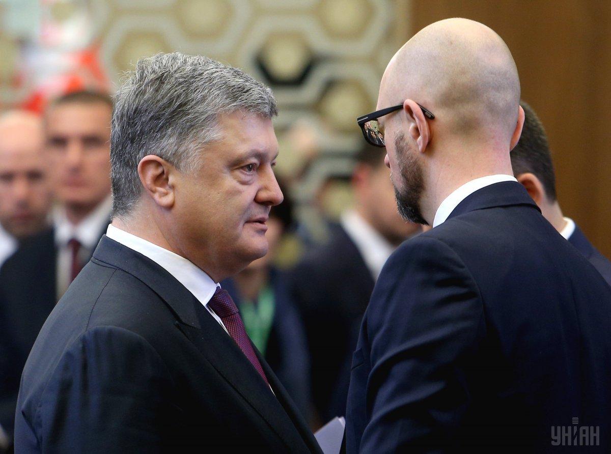 Petro Poroshenko and Arseniy Yatsenyuk / Photo from UNIAN