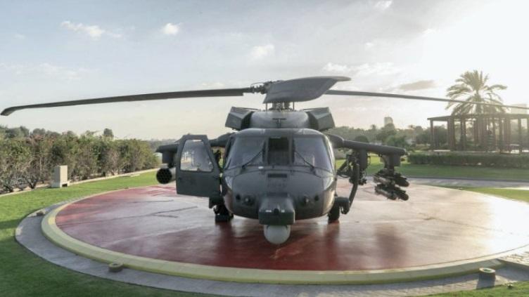 Показали внешний вид новой версии вертолета Black Hawk / фото Sheikh Mohamed bin Zayed Al Nahyan via Twitter