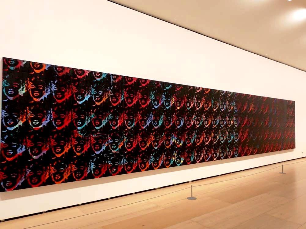 Полотно Энди Уорхола «150 разноцветных Мэрилин», музей Гуггенхайма, Бильбао / Фото google.com