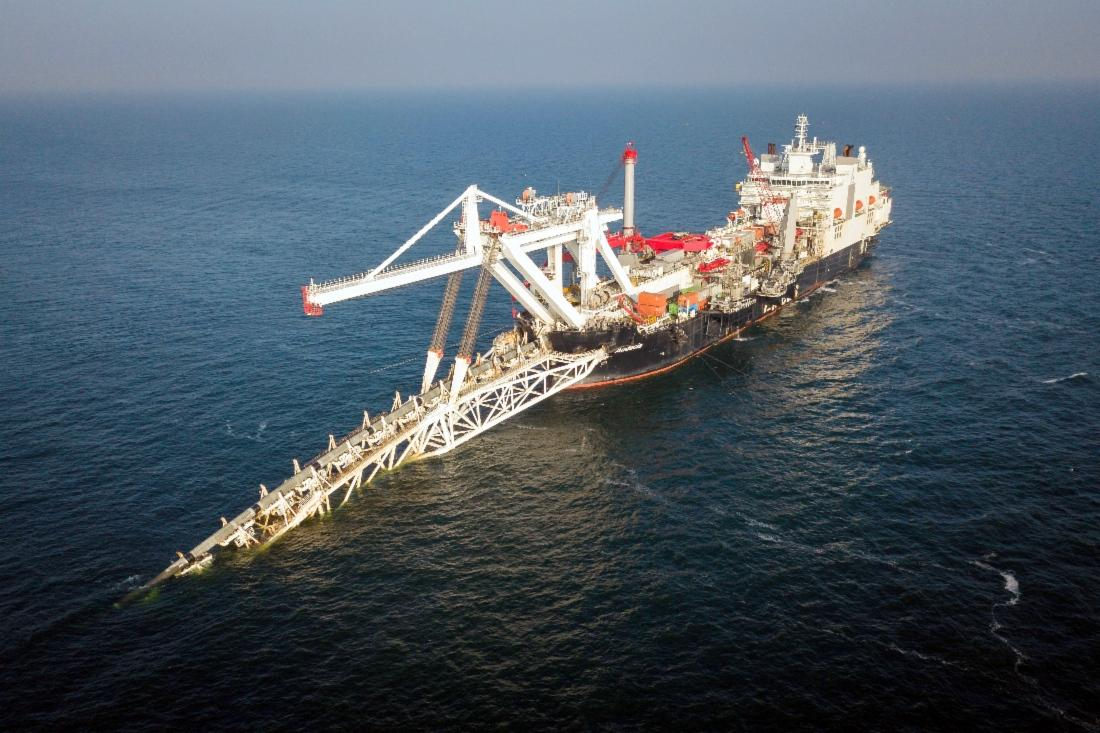 Nord Stream 2 AG сможет уложить в немецких водах два километра труб строящегося газопровода/ фото gazprom.ru