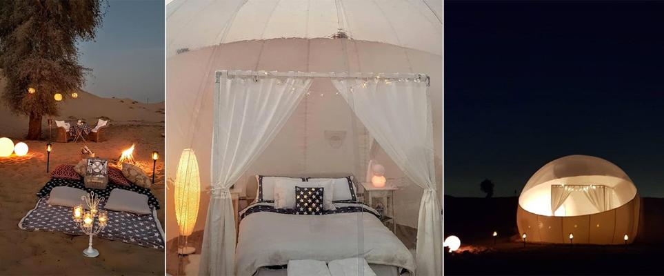 Внутри гостей ждут все удобства, в том числе кровать королевского размера\ whatson.ae