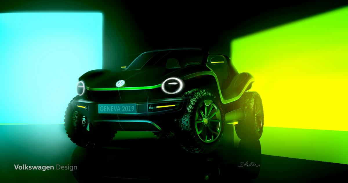 Volkswagen showed the first photo's of the electric buggy / photo Volkswagen
