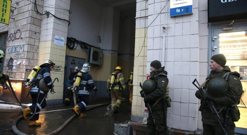 Пожежу у будинку в центрі Києва ліквідовано