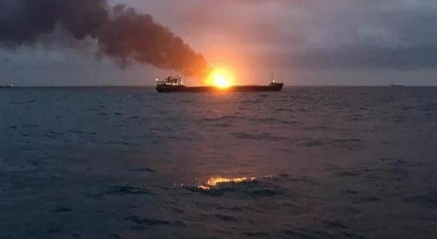 Ukraine's ministry: Two LPG tankers that sink near Kerch illegally supplied gas to Syria since 2016