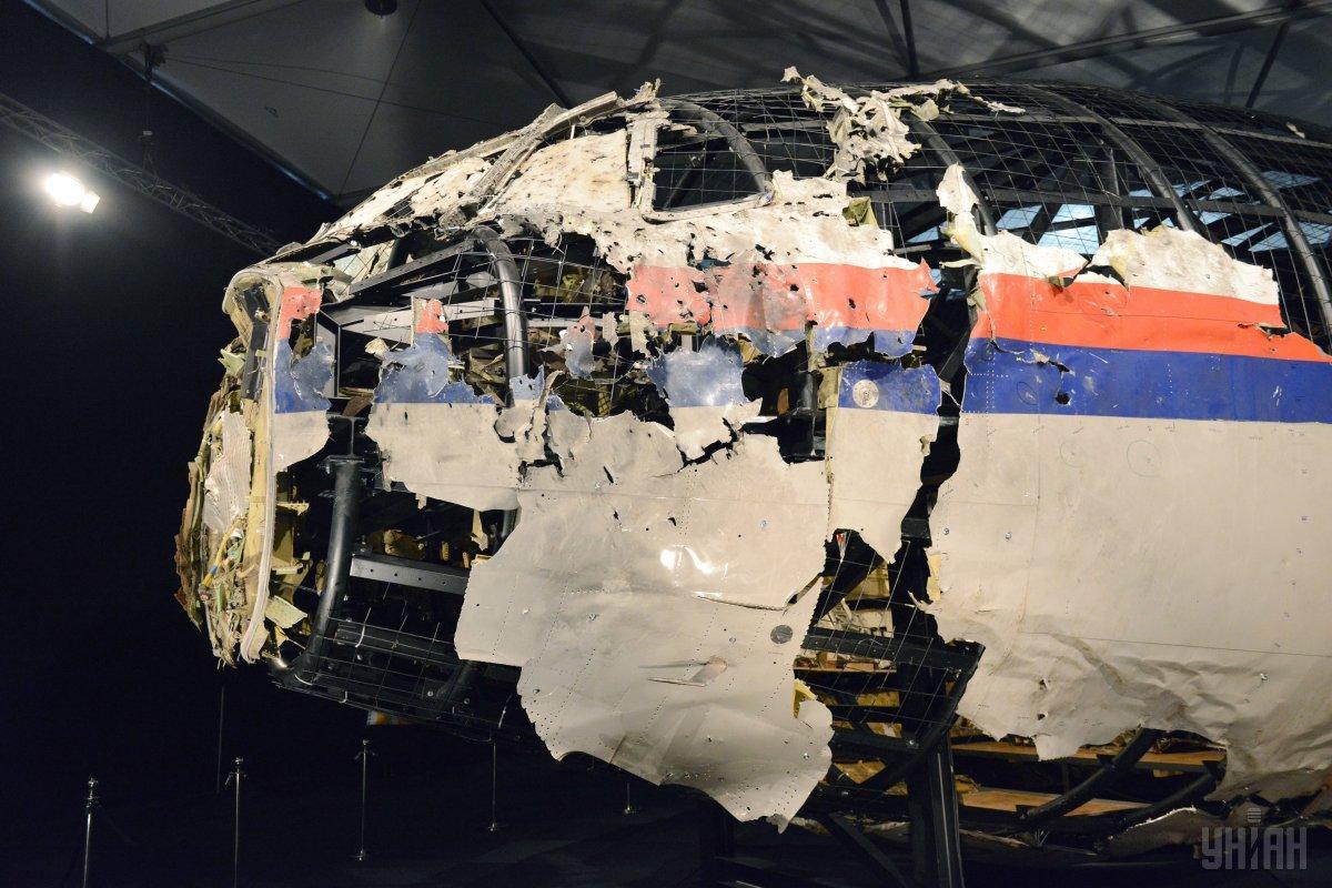 Уламки фюзеляжу збитого Boeing 777 / фото УНІАН
