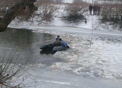 В Волынской области на льдине обнаружили тело первоклассника / фото vl.dsns.gov.ua