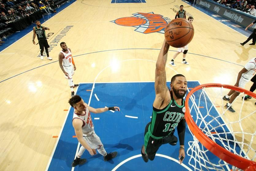 Нью-Йорк проиграл Бостону в матче регулярного чемпионата НБА / Twitter