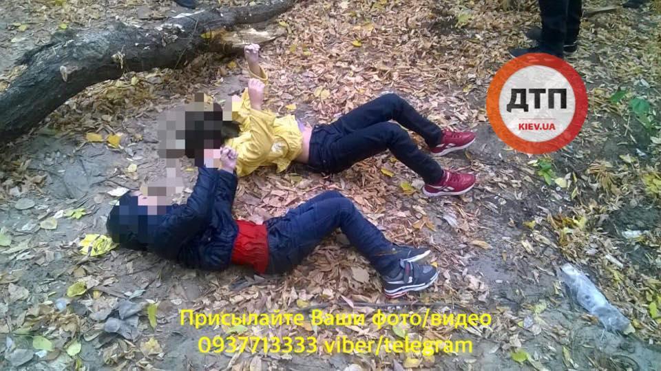 Жінка втопила своїх дітей у столичному озері / фото dtp.kiev.ua