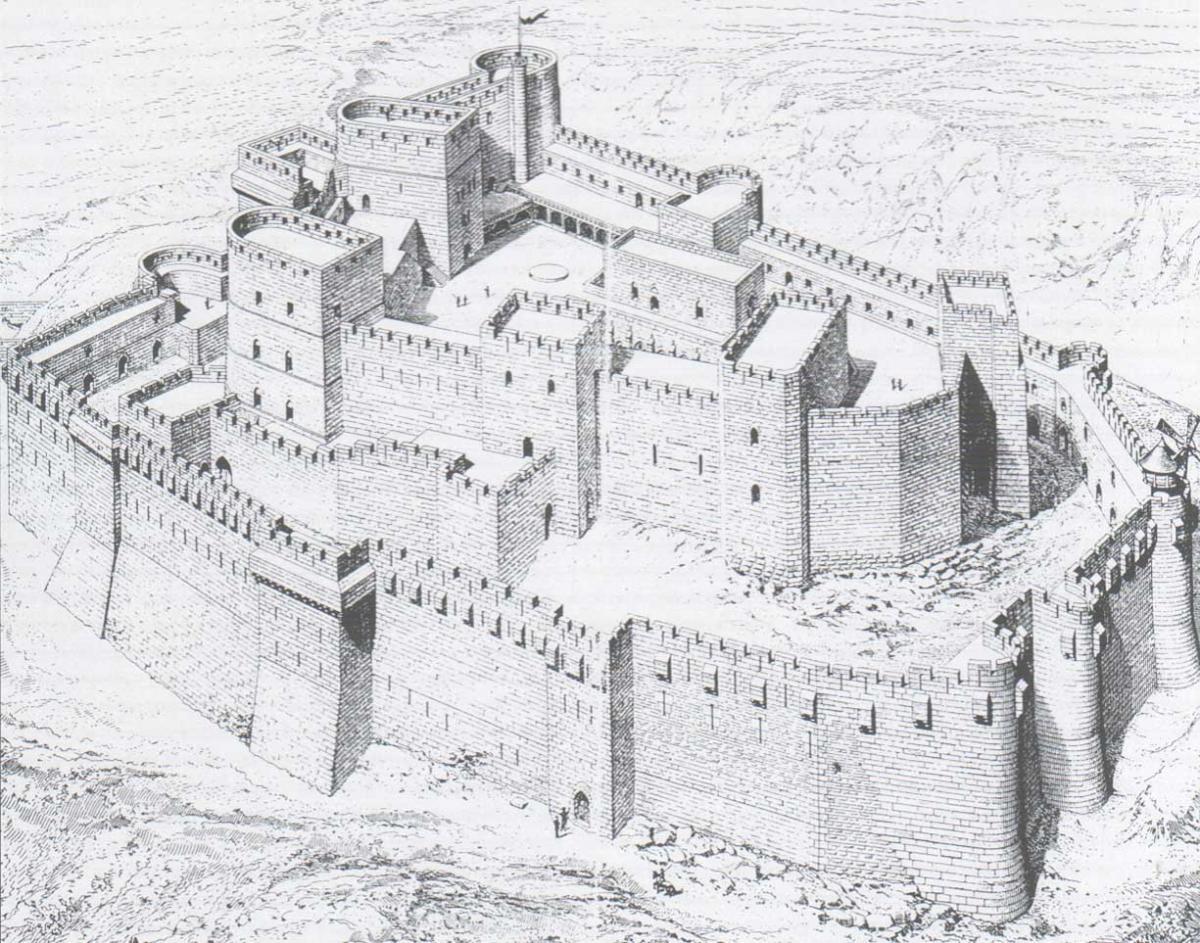 У сирійському замку Госпітальєрів знайшли таємну кімнату / Реконструкція фортеці Крак-де-Шевальє - wikipedia.org