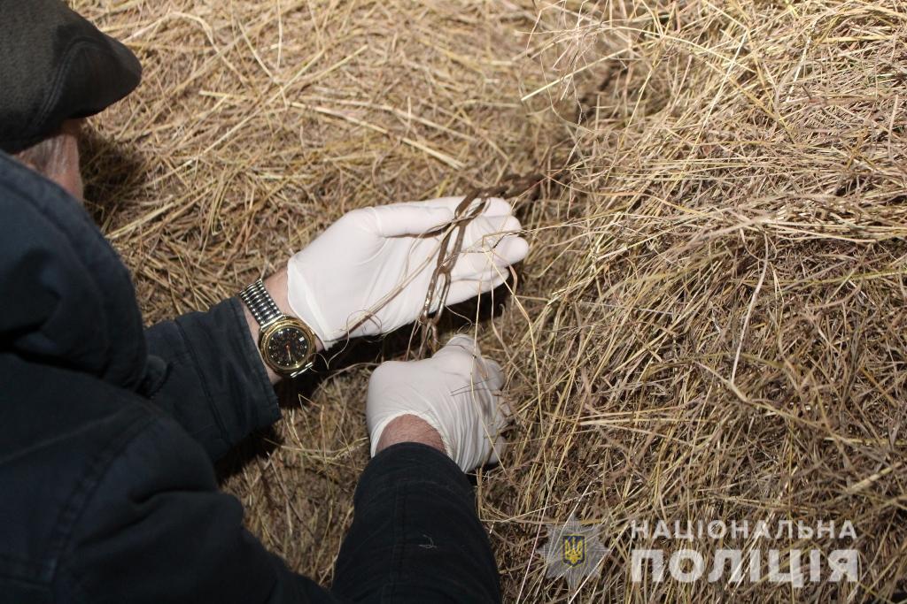 Мальчик запутался в цепях, висевших на опорах сенохранилища / фото od.npu.gov.ua