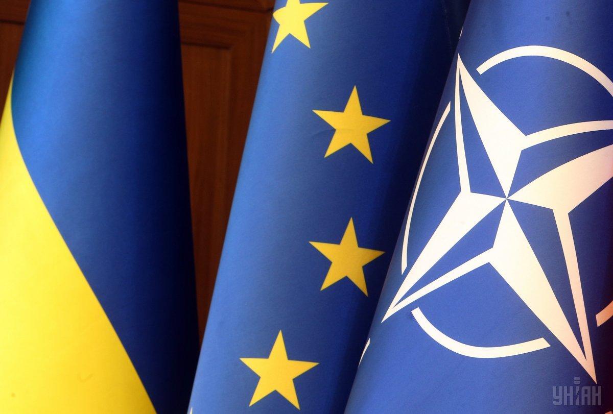 За вступление в Евросоюз проголосовали бы 68%, в НАТО - 51%, если бы соответствующий референдум состоялся в ближайшее время / фото УНИАН