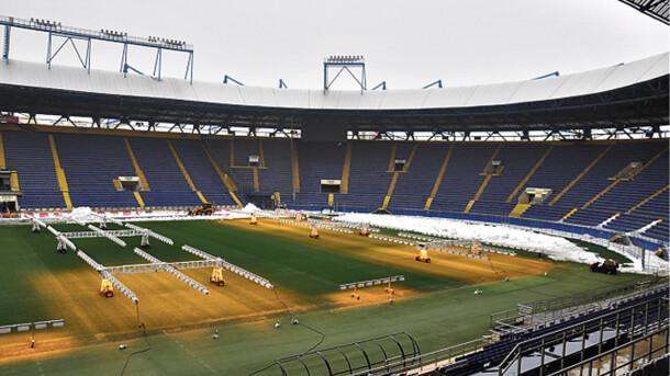 """Стадіон """"Металіст"""" активно готується до матчу ліги Європи Шахтар - Айнтрахт / Е. Смертенко Сьогодні"""