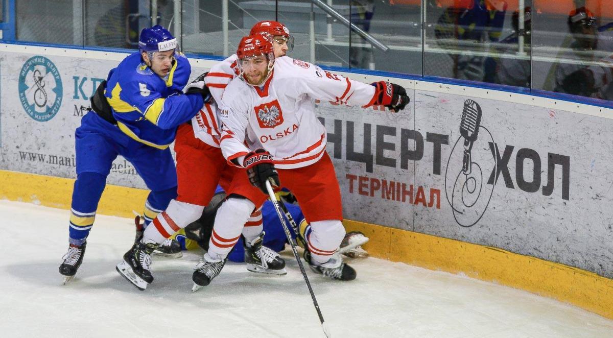 Українські хокеїсти провалили початок матчу з поляками / uhl.ua