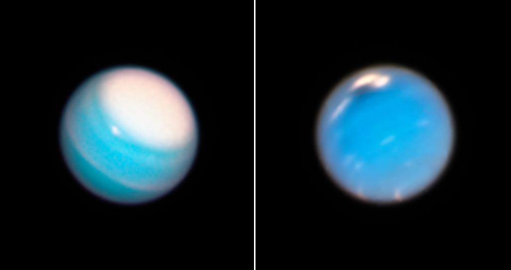 Уран и Нептун / фото hubblesite.org