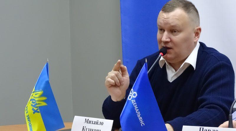Председатель Одесской городской организации Народного Руха Украины Михаил Кузаконь / фото megafon.od.ua