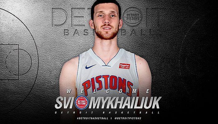 Михайлюк отметился точным броском из-за дуги в первом матче за Детройт Пистонз / twitter.com/detroitpistons