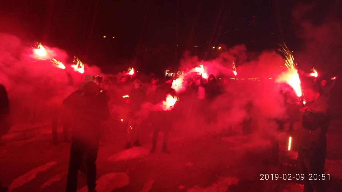 Пікетувальники заявили, що повертаються до Подільського управління поліції / фото УНІАН