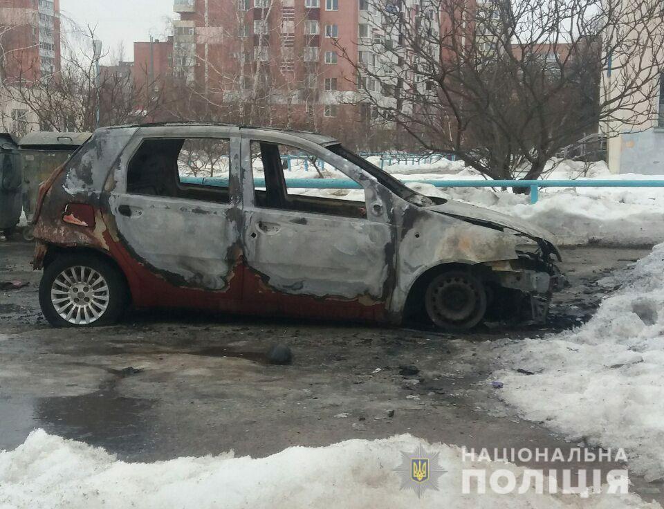 Полтавские правоохранители расследуют серию поджогов автомобилей / Отдел коммуникации полиции Полтавщины