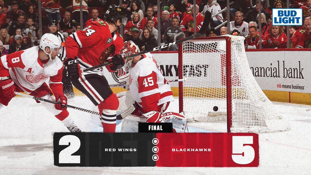 Хокеїсти Чикаго впевнено переграли Детройт Ред Уінгз / twitter.com/nhlblackhawks