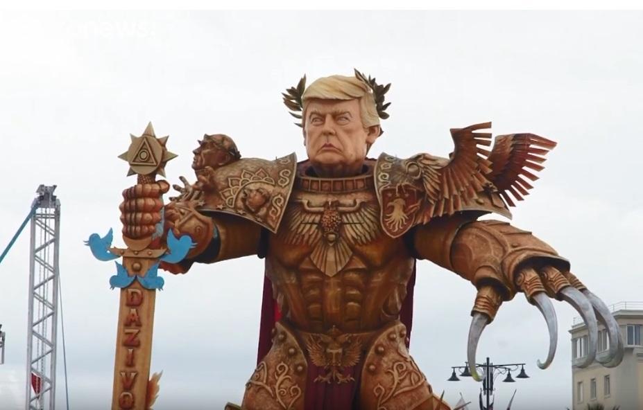 """Трамп став """"Богом-Імператором"""" в Італії / скріншот, Euronews"""