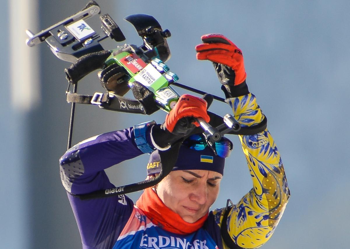 Олена Підгрушна виступала на четвертому етапі / фото: biathlon.com.ua