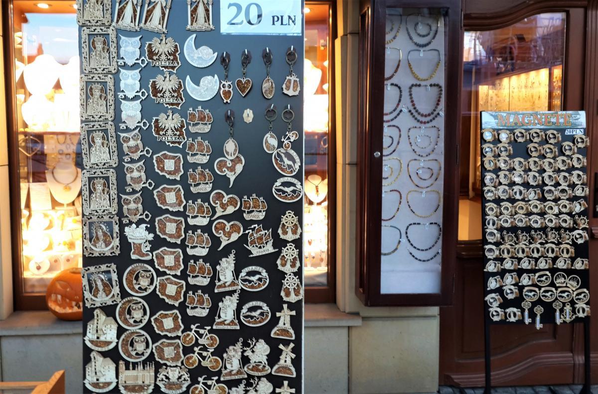 Сувениры из Гданьска с янтарем / Фото Марина Григоренко