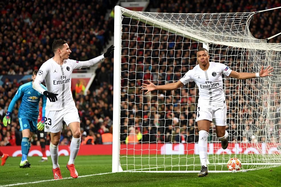 Мбаппе забил второй гол ПСЖ в ворота Манчестер Юнайтед / uefa.com