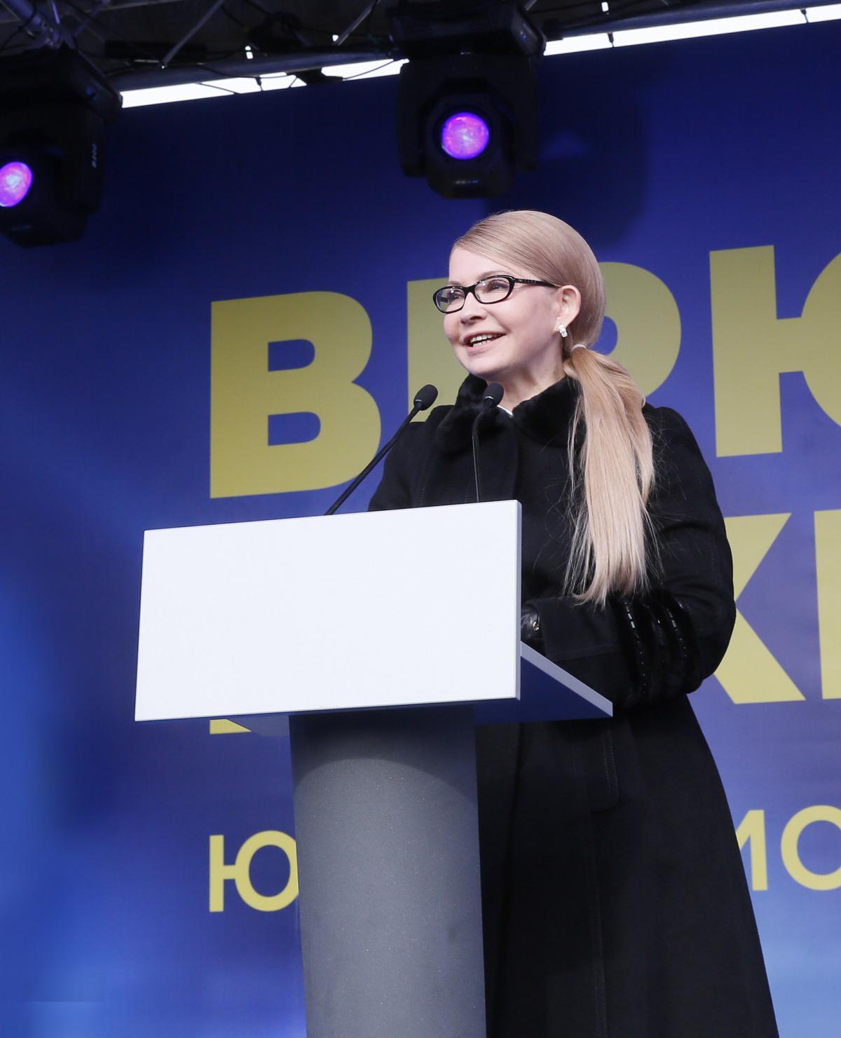 У партійних рейтингах лідирує «Батьківщина» Юлії Тимошенко із результатом у 20% / Photo by Alexander Prokopenko