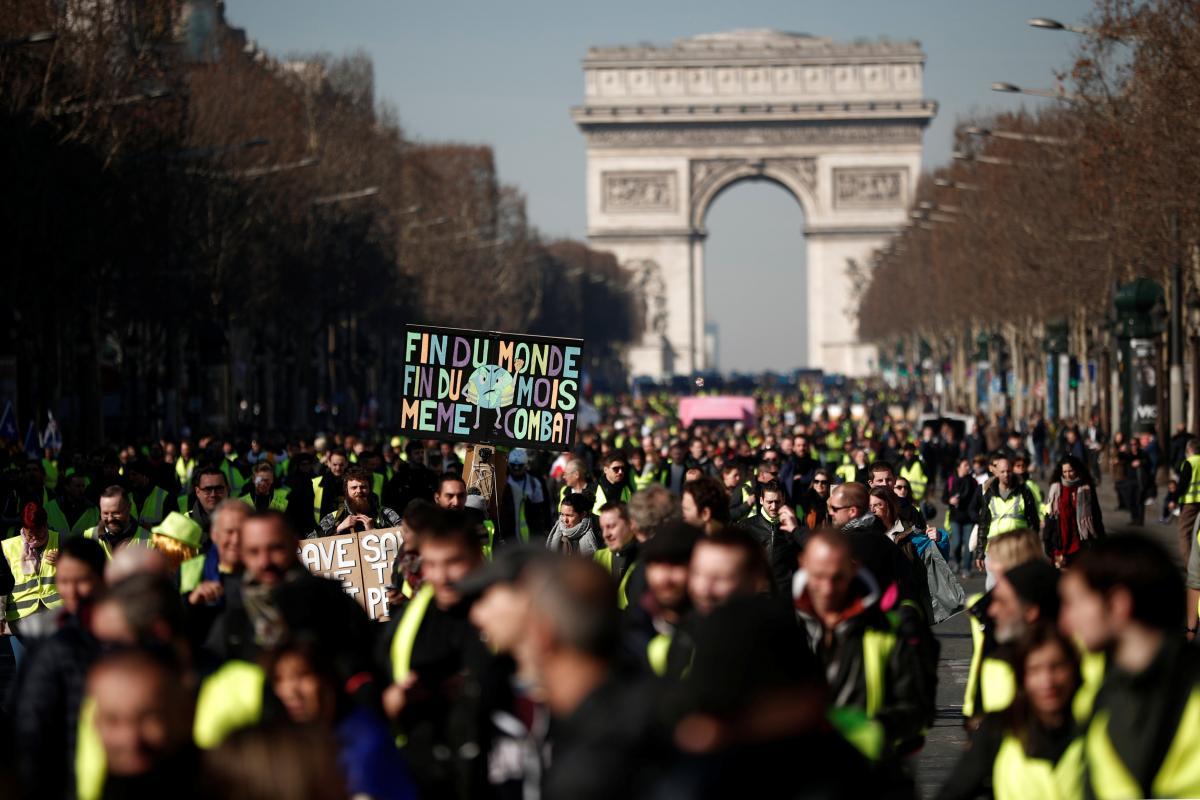 Протесты в Париже / REUTERS