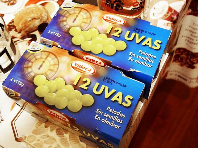 Наборы виноградин в испанских магазинах перед Новым годом / Фото Вероника Кордон