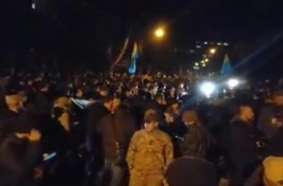 В Киеве проходит акция с требованиями МВД