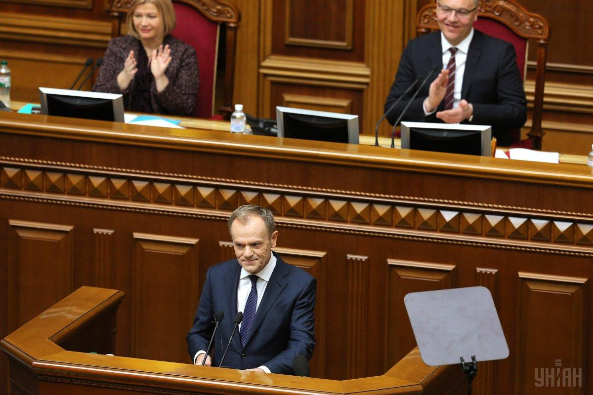 Tusk in Parliament / Photo from UNIAN