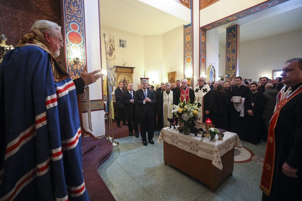 Президент США принял участие в панихиде по погибшим / фото president.gov.ua