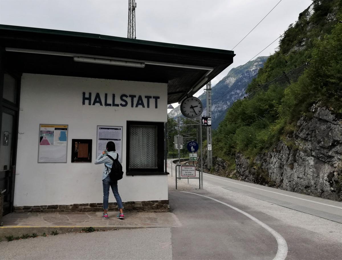 Станция Халльштатт по другую сторону озера / Фото Марина Григоренко
