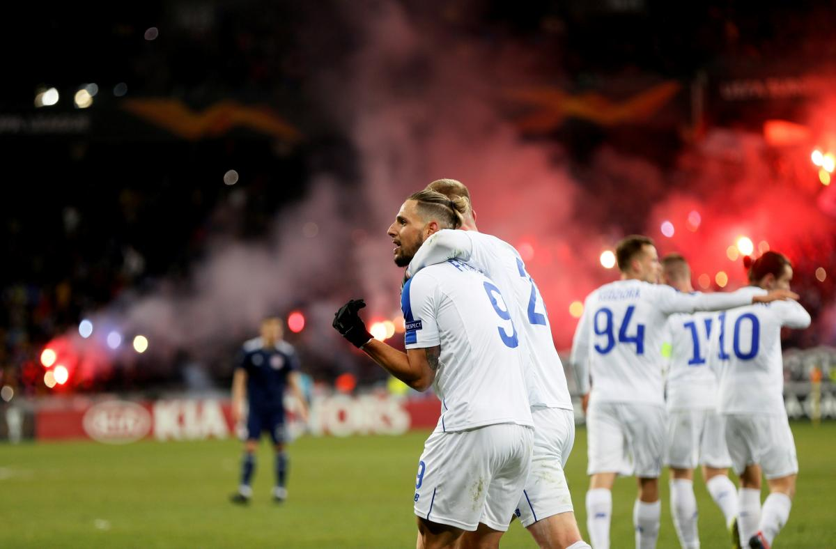 Dynamo Kyiv's 1-0 win on February 21 / REUTERS