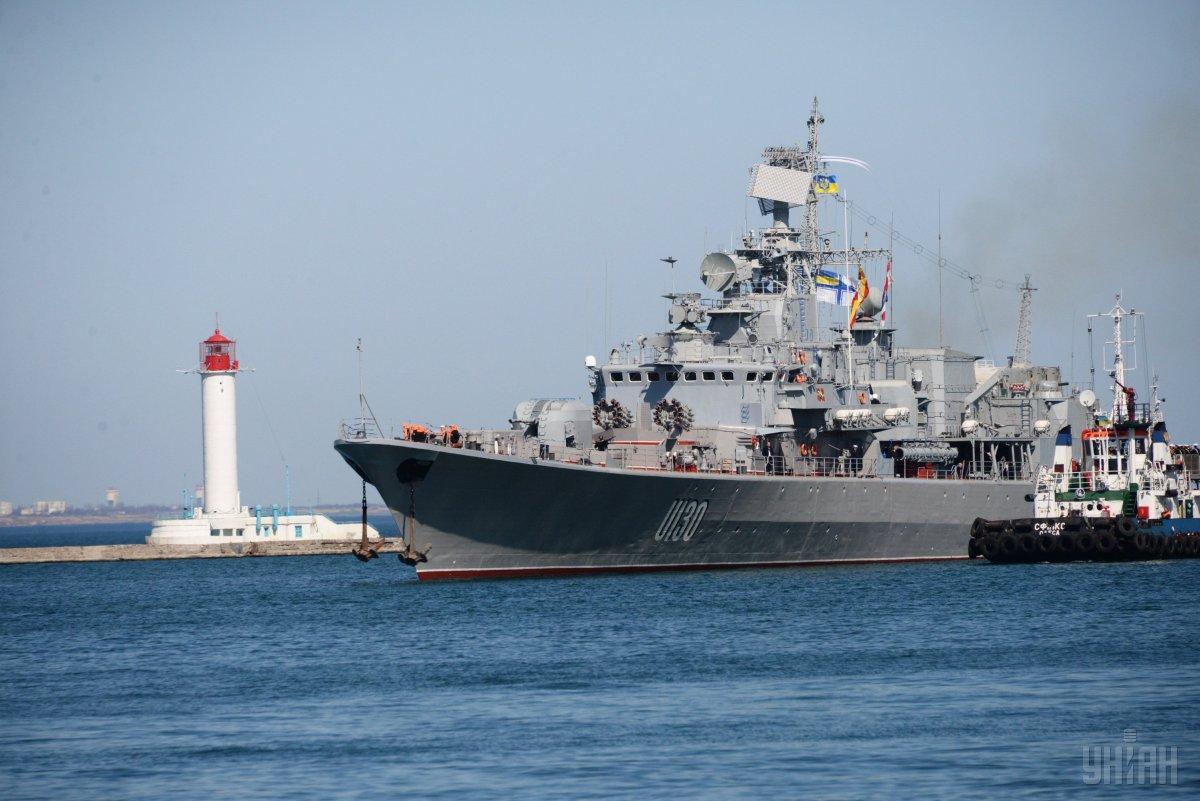 Флагман українських військово-морських сил, фрегат «Гетьман Сагайдачний» \ УНІАН