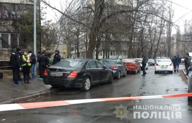 5 марта в Киеве в автомобиле Mercedes застрелили ювелира Киселева \ фото kyiv.npu.gov.ua