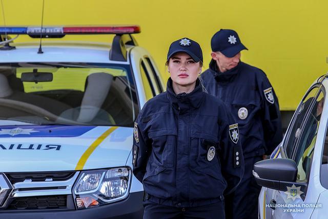 """В патрульной полиции Львовской области уточнили, что """"Полина расшифровывается, как Полиция против насилия"""" / фото National Police of Ukraine"""