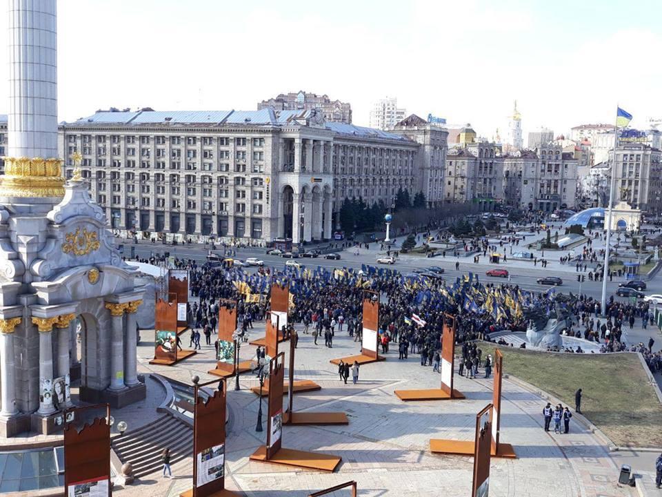 Нацдружинысобрались на Майдане / фото facebook.com/NatCorpsUA