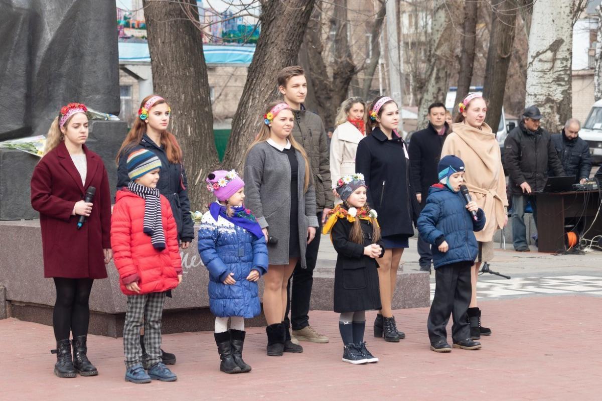 Спочатку діти прочитали вірші Кобзаря \ dniprorada.gov.ua