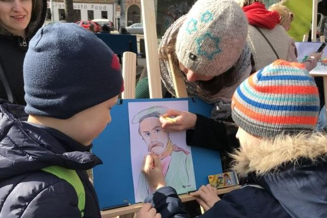 Дети могли сами дорисовать портрет Кобзаря или дом, где прошло его детство \ Иванна Трутненко