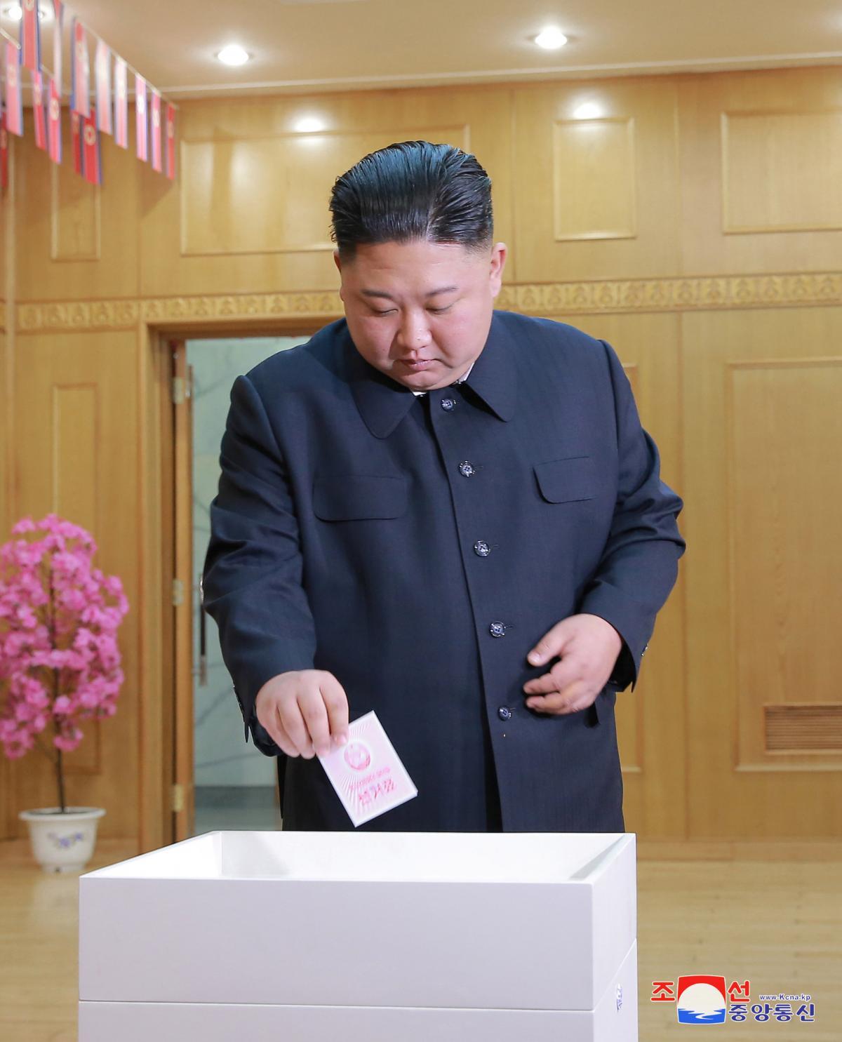 Ким Чен Ын голосует на выборах в Верховное народное собрание 14-го созыва / REUTERS