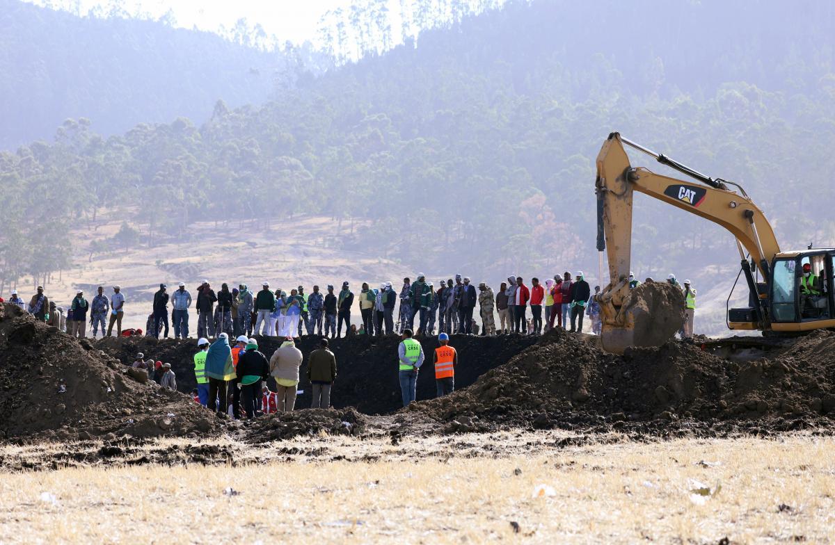 Место паденияBoeing 737 MAX 8 в Эфиопии / REUTERS