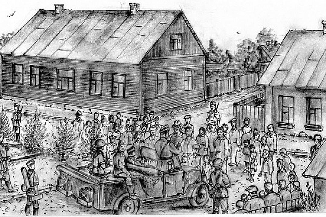 22 июня 1941 года, перекресток улиц Мицкевича и Менжинского / Иллюстрация: Владимир Губенко / KP