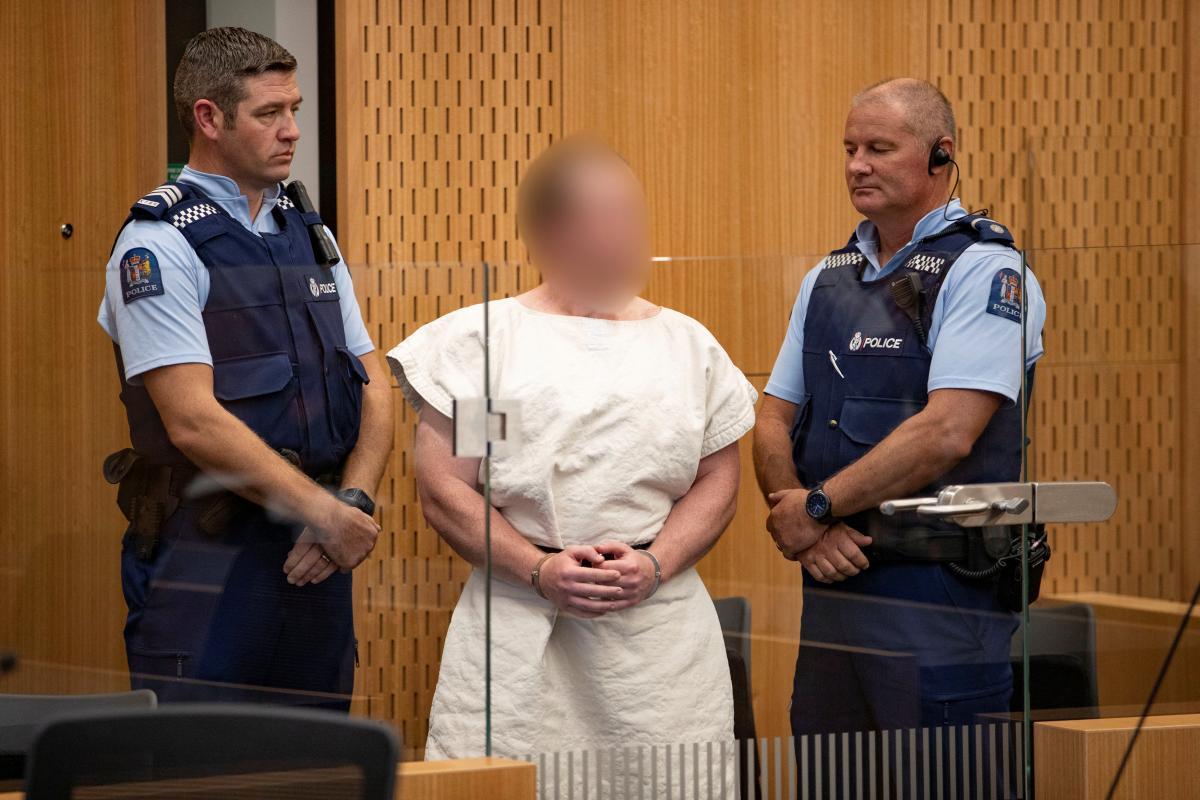 Брентон Таррант під час судового засідання щодо терактів у Новій Зеландії / REUTERS
