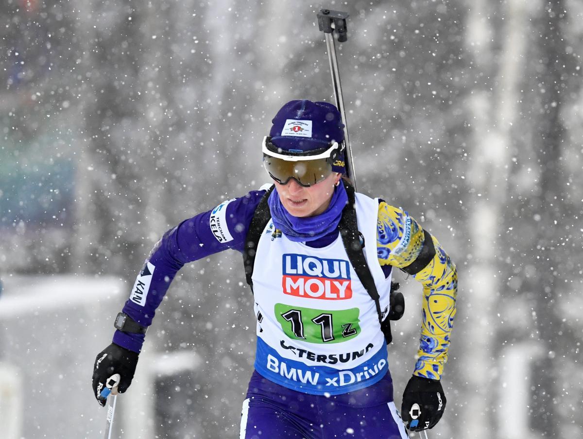 Вита Семеренко стала лучшей в спринтерской гонке в составесборной Украины / Reuters