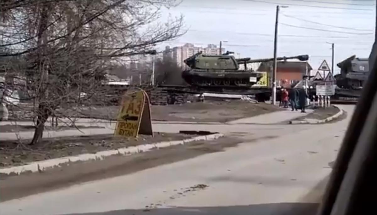 Эшелон заметили в Ростовской области РФ / скриншот: Анатолий Штефан/Facebook