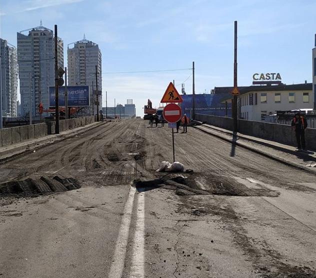 Шулявский мост закрыли на реконструкцию/ фото instagram.com/shuliavskiimost