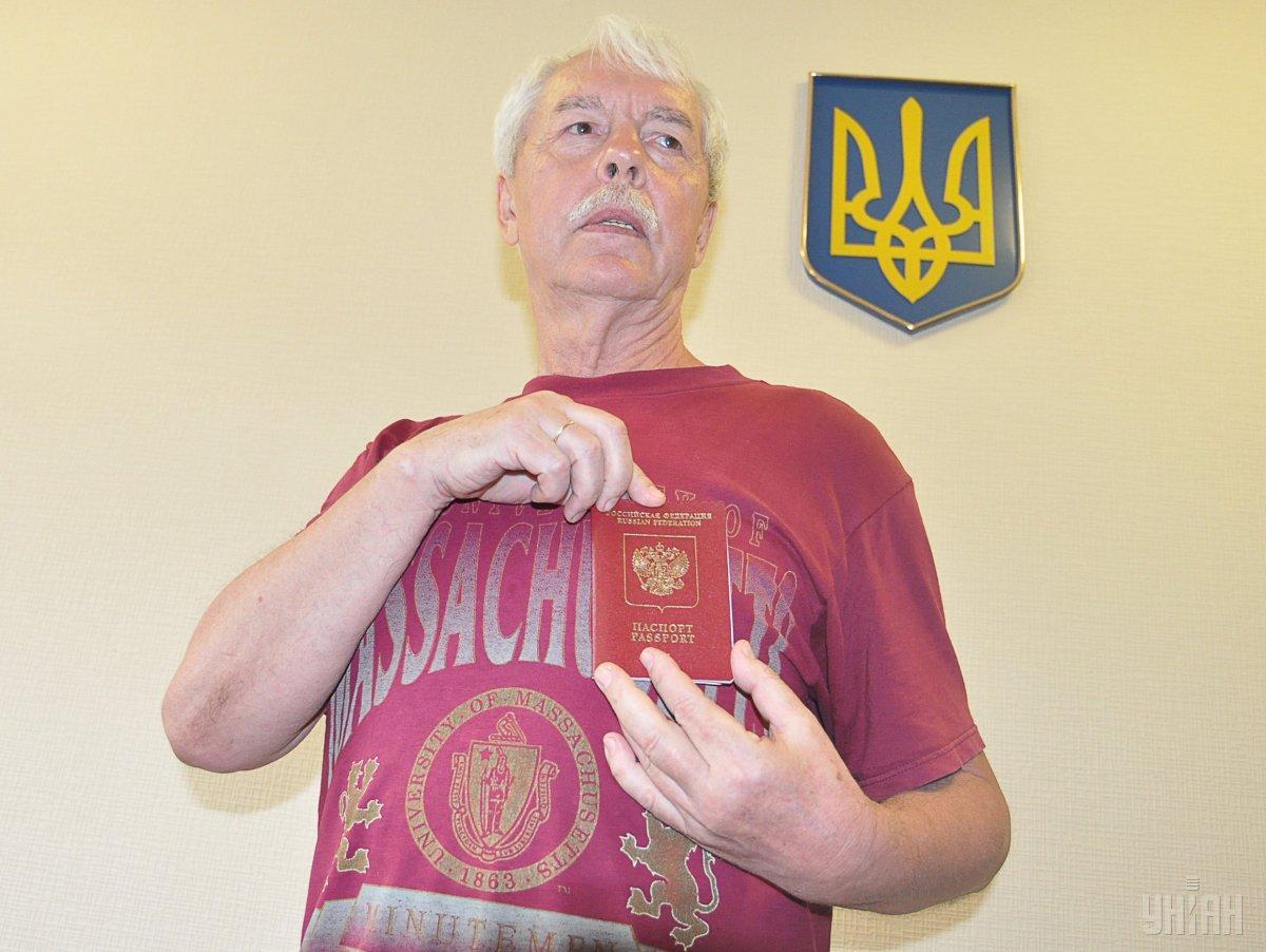 Российские силовики задержали Мешкова в Симферополе 18 марта / фото УНИАН
