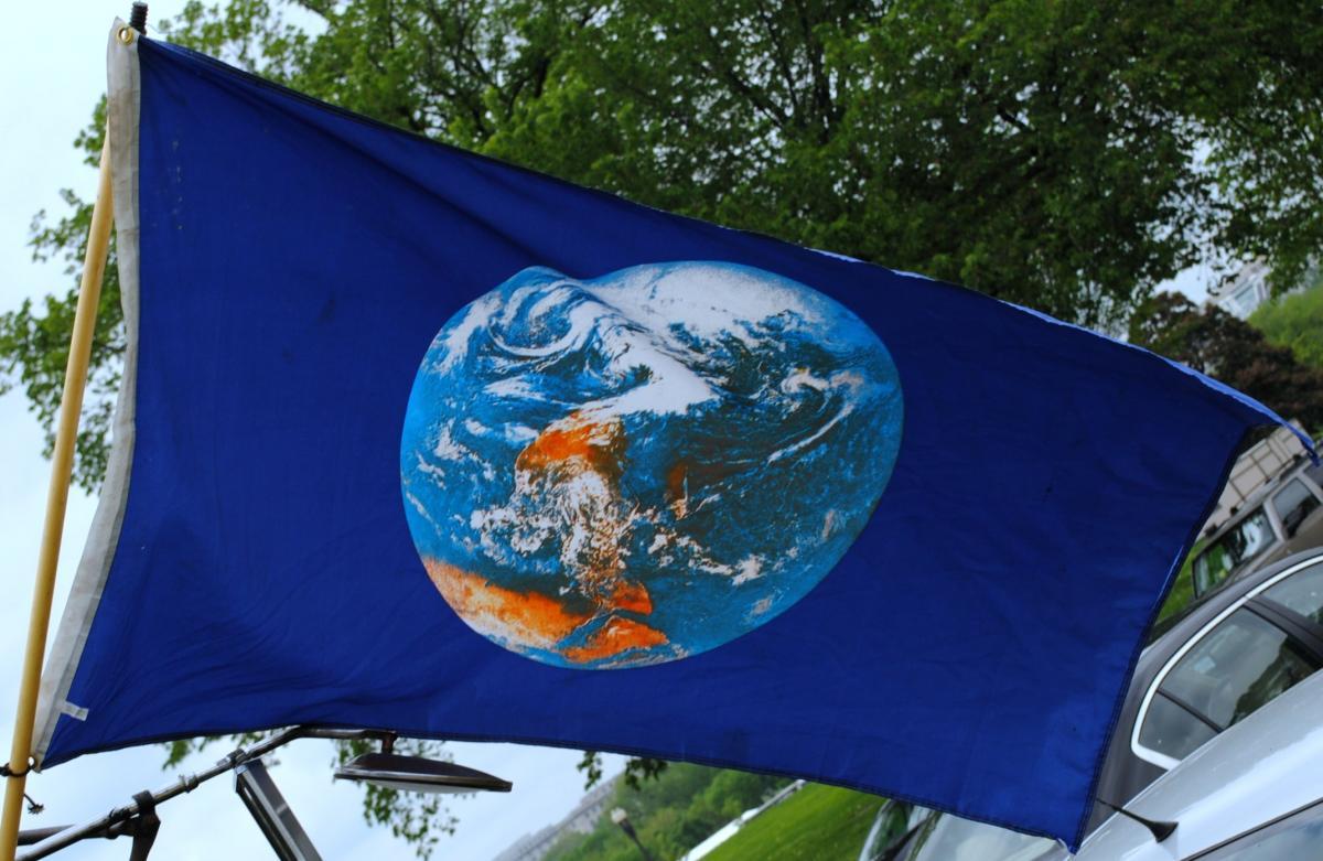 Прапор Дня Землі / Фото: Wikimedia